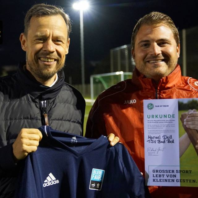 BLEIB FAIR - Tolle Aktion von Landesliga-Trainer
